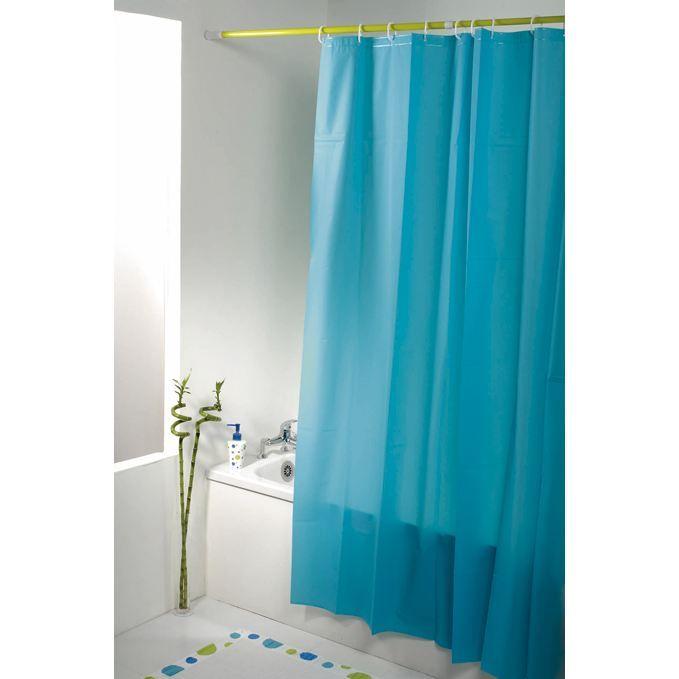 rideau de douche turquoise achat vente rideau de douche cdiscount. Black Bedroom Furniture Sets. Home Design Ideas