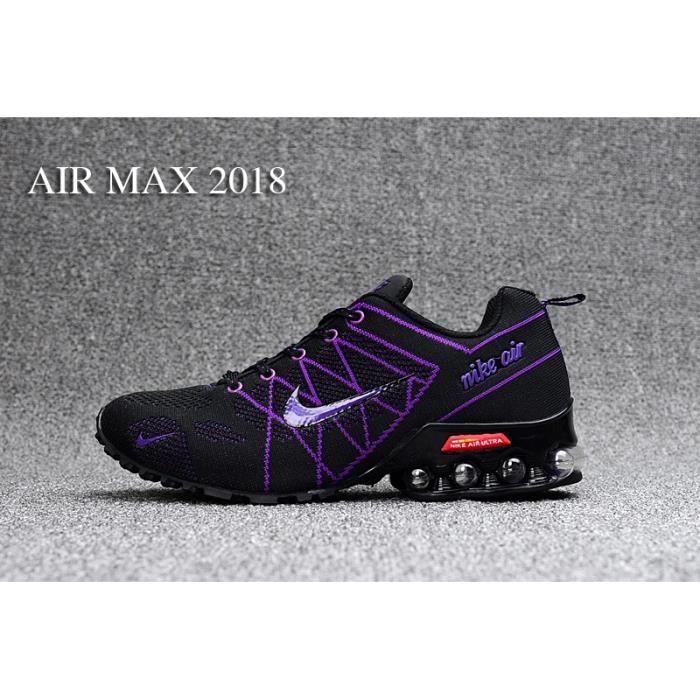 release date 888d6 9c457 nike air max 2018 Chaussures femme Numéro 36 , 39 Noir et violet , Achat    Vente basket , Soldes  dès le 10 janvier Cdiscount ...
