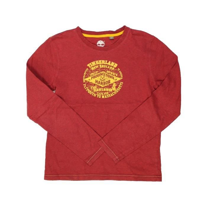 7ffa6964fd61d T-shirt manches longues enfant fille TIMBERLAND 12 ans rouge hiver ...