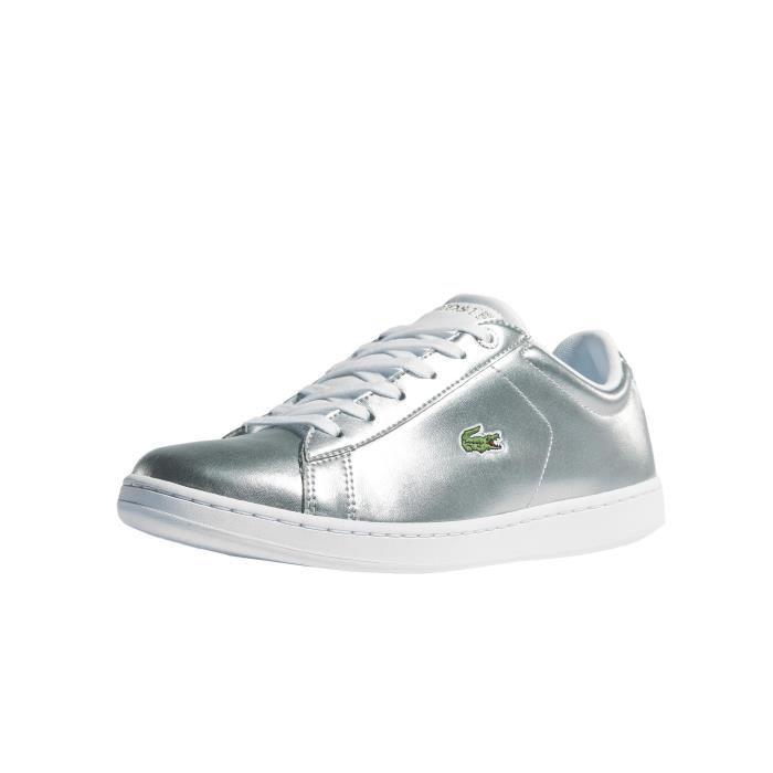 8cbbc0f5a4 Lacoste Enfant Chaussures / Baskets Carnaby Evo 318 2 Spj Argent ...