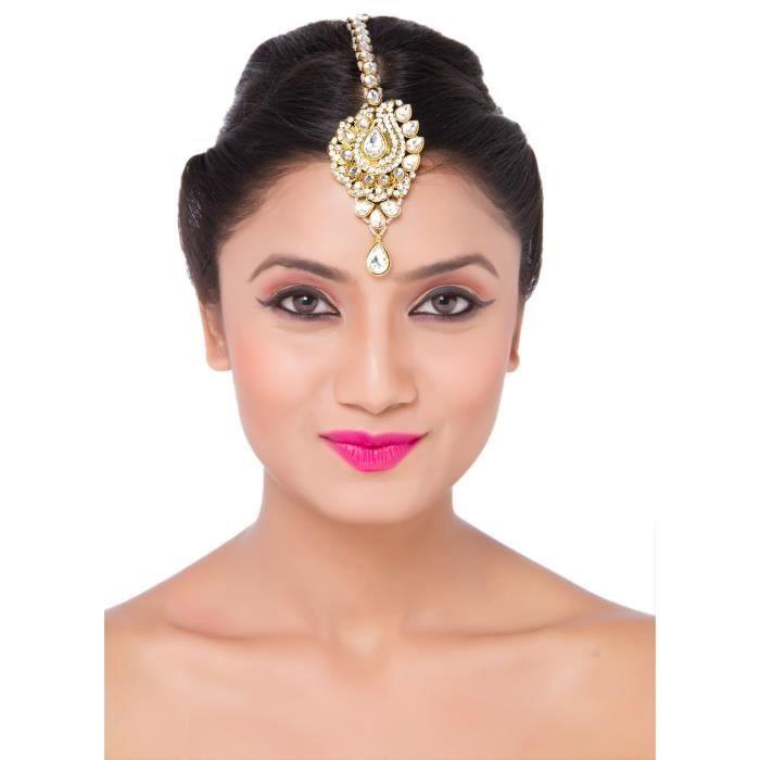 Mode bijoux de cheveux indiens des femmes pour la mariée Porter Maang Tikka W6I3V