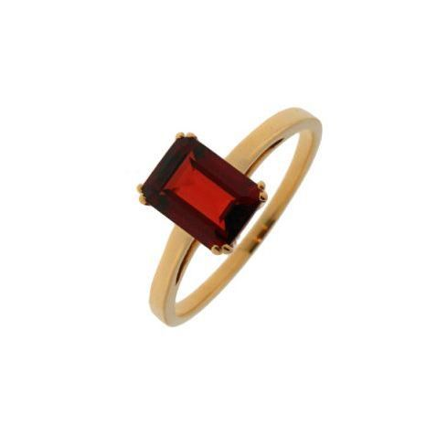 Bague or jaune Grenat