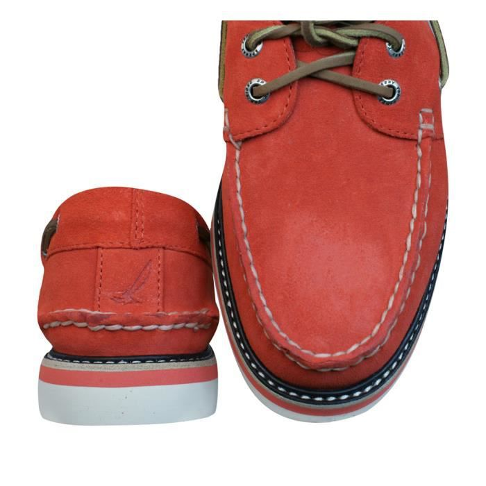 Sperry Top Sider A-O DBL Sole Chaussures bateau en daim hommes - Rouge Red 9.5 ztEXNtiqq0