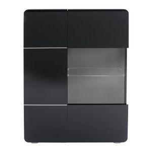 bahut noir laque achat vente bahut noir laque pas cher soldes d s le 10 janvier cdiscount. Black Bedroom Furniture Sets. Home Design Ideas