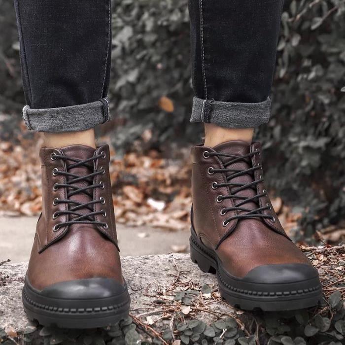 hommes chaud plus des bottes de martin de coton chaussures à talons hauts