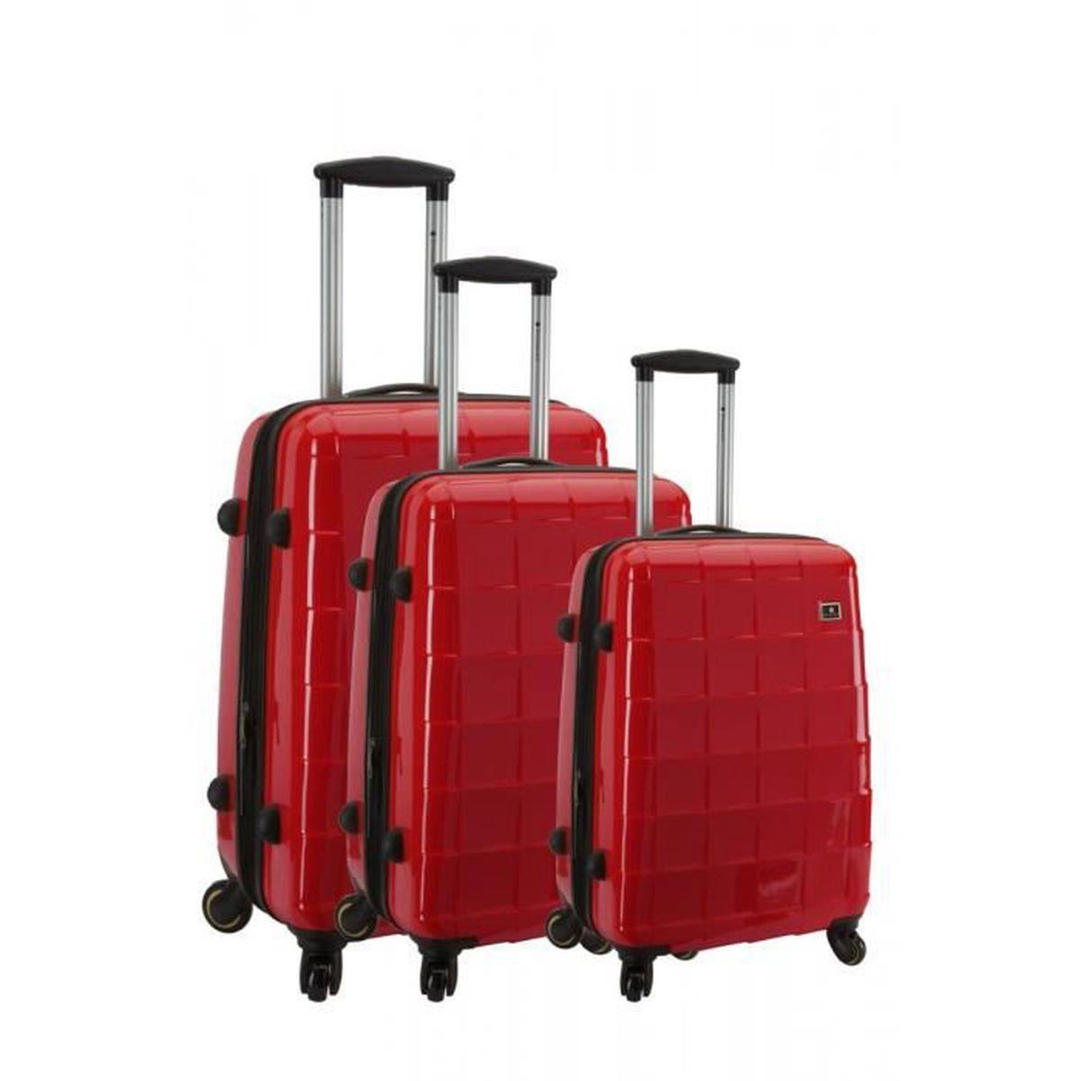 Lot de 3 valises rigides Snowball Fleurs Noir BXLAMIliK4