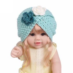 Enfants bébé filles tricot chapeau bonnet turban tête Wrap Casquette  Casquette bu YHL70919187BU 03c516b563c