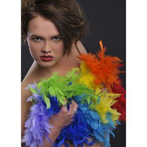 ACCESSOIRE DÉGUISEMENT Boa de plume arc-en-ciel lumineux multicolore cfcf0a3dd70