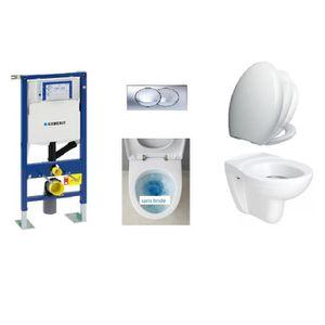 WC - TOILETTES Pack Complet Wc suspendu geberit autoportant + pla