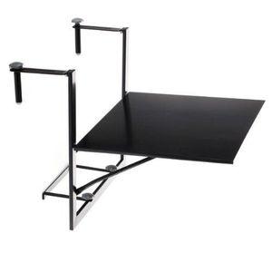 TABLE D'APPOINT Table de balcon suspendue et rabattable, ajusta...
