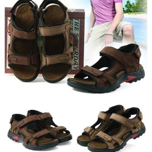 SANDALE - NU-PIEDS Homme en cuir sandales été en plein air