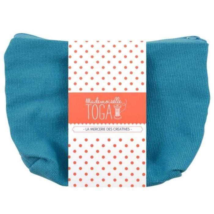 MLLE TOGA Trousse à zip à customiser - turquoise