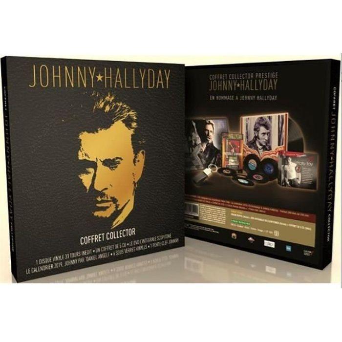 CD VARIÉTÉ FRANÇAISE Coffret Johnny Hallyday, édition collector , Dvd