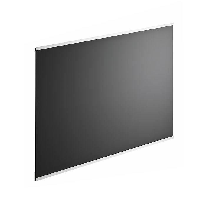 CREDENCE Fond de hotte en verre de 5mm d'épaisseur - Noir -