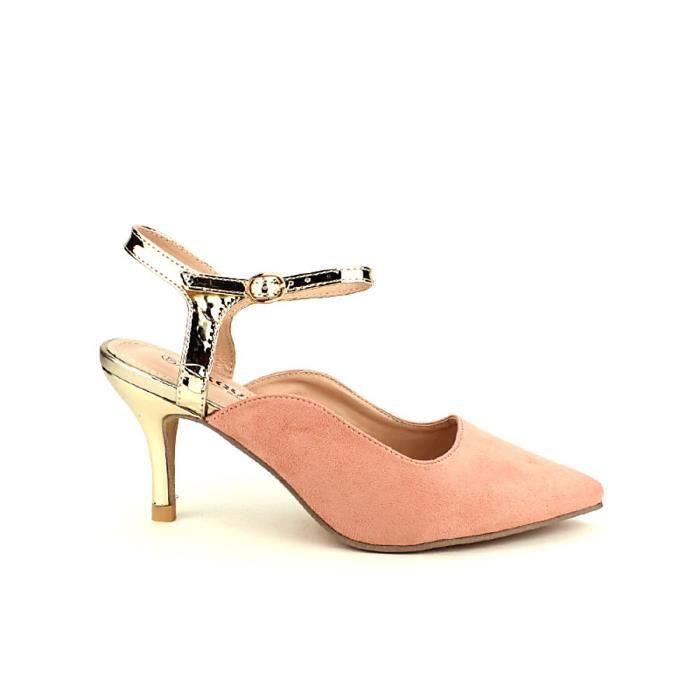e002f3030568 Escarpins Escarpin Femme Rose Chaussures Cendriyon 7qdHq