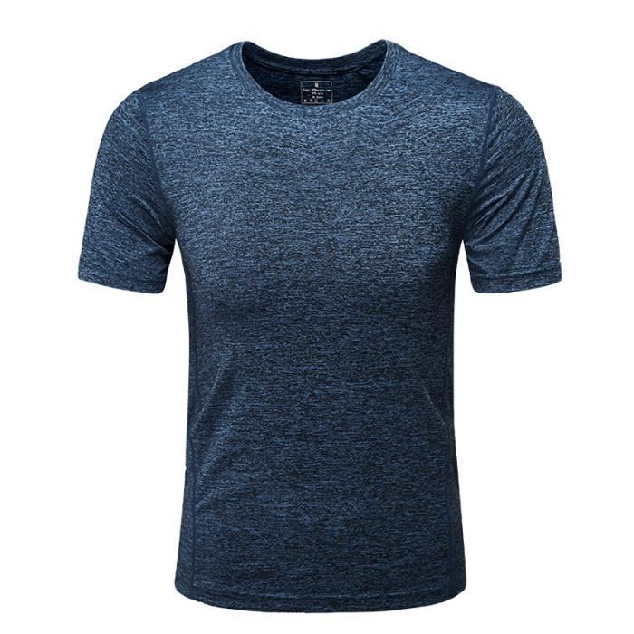 Tunika Bleu Shirt T Blouse Ete Sport Tops Rond Casual Chic Col Slim Court Homme Tank Tee Chemises Manches HWEI2D9
