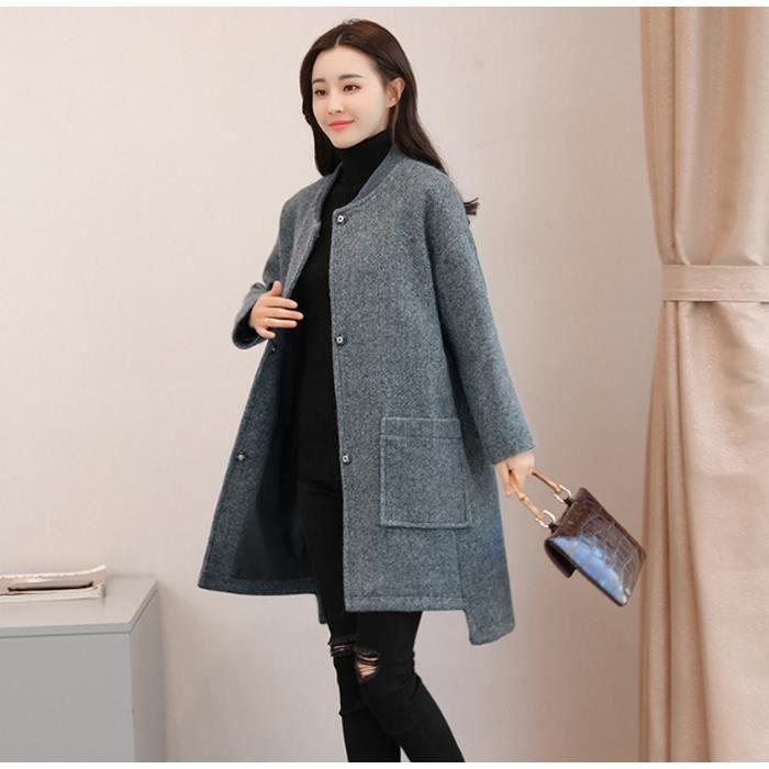 4c936940ff7c Vêtement Mode Désign Cape Manteau de Laine Femme Revers En vrac ...