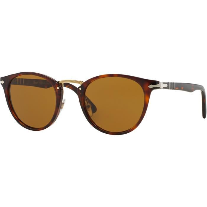 Persol 3108S Typewriter Edition Tabac Brun Polarisé - Small-Medium