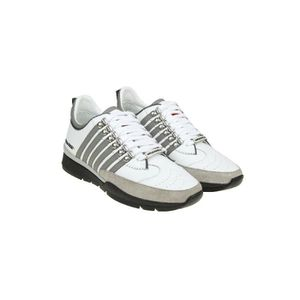 DSQUARED2 HOMME SNM010111570001M072 BLANC CUIR BASKETS Og0OVC