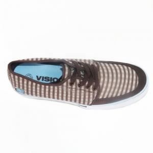 Shoes vintage style VISION STREET WEAR EAST 20th brown blue