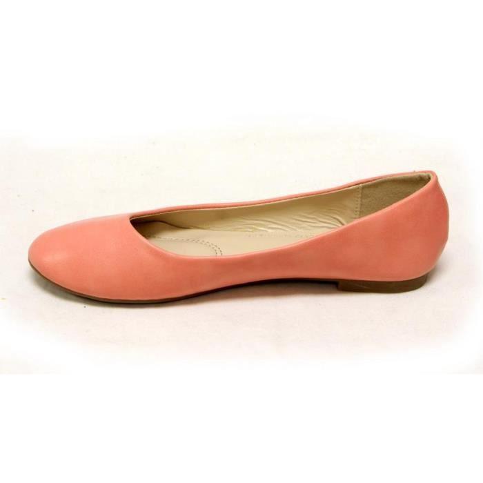 Bella Marie Ballerine classique confortable ronde Slip Flats Toe Shoes sur RSMSC Taille-38 5810LrYYxN