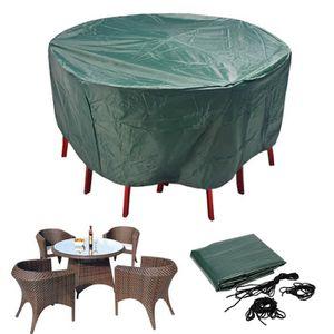 housse table de jardin ronde achat vente housse table. Black Bedroom Furniture Sets. Home Design Ideas