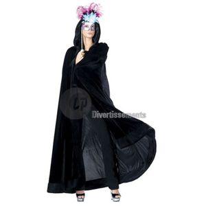 e8dc2c27c281 Cape velour noir femme - Achat   Vente pas cher