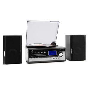 PLATINE VINYLE auna Blackwood Chaîne stéréo Tourne-disque USB MP3