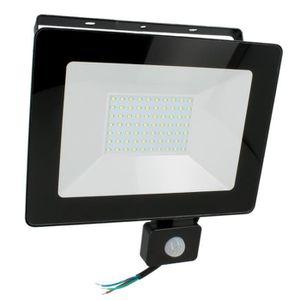 PROJECTEUR EXTÉRIEUR Projecteur LED 50W Noir détecteur de mouvement (Bl