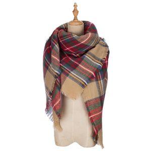 Craze womens grande écharpe douce couverture chaude tartan plaid écharpe  châle wrap de mode TSF3K 55a6da41517