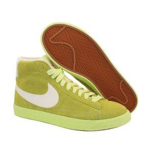 uk availability f7767 dd4cc BASKET Baskets Nike Blazer Mid Suede Vintage Vert. 518171