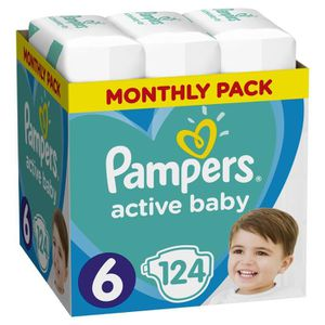 COUCHE PAMPERS Active Taille 6, 124