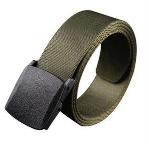 CEINTURE ET BOUCLE L homme de style militaire toile Web Belt ceinture ... 198d94dfabc