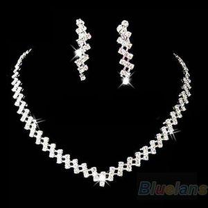 PARURE Ensemble de bijoux mariage  Boucles d'oreilles et