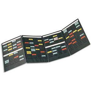 CLASSEUR Kit de 4 volets MINI-PLANNER 4 bandes de 17 fiches