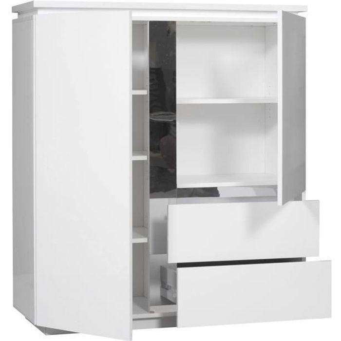 buzz buffet 110 cm laqu blanc achat vente buffet bahut buzz meuble tag re 110 cm. Black Bedroom Furniture Sets. Home Design Ideas