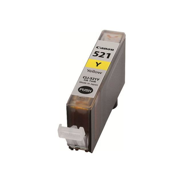 CANON Cartouche d'encre CLI-521Y - Jaune - Capacité standard