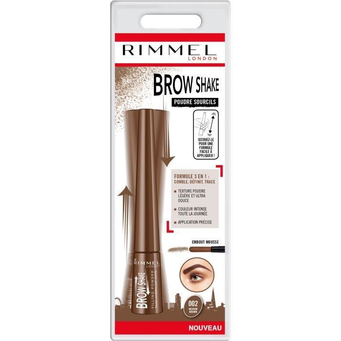 RIMMEL Brow This Way Kit pour Redéssiner les Sourcils - Medium Brown