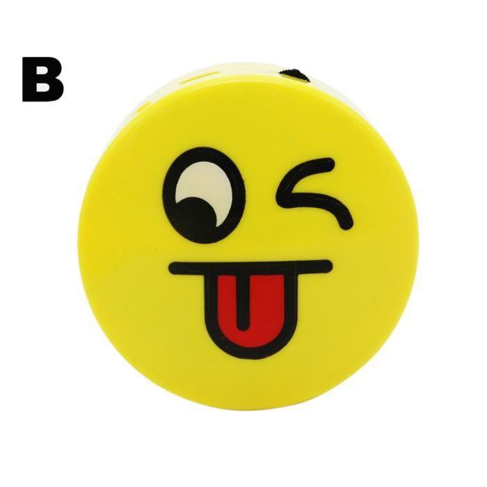Ouniondo® Mini Portable Mignon Emoji Émotion Haut-parleur Sans Fil Bluetooth Tf Nouvelle Carte Jaune_poi264