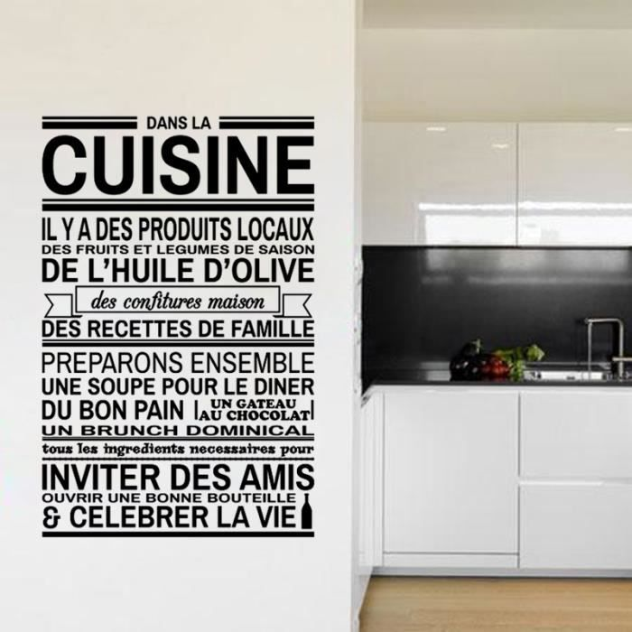 Proverbes cuisine for Stickers phrase cuisine