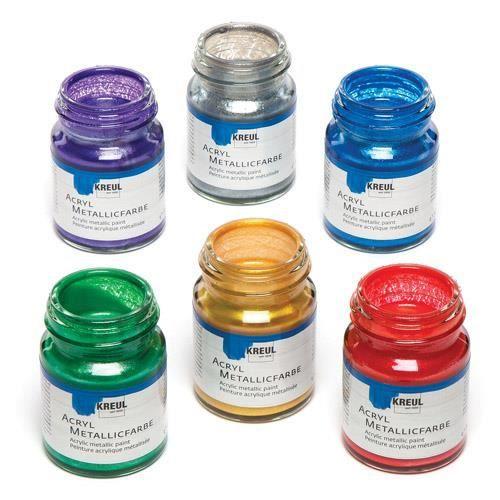 Peintures Acryliques Métallisées Pour Peindre Décorer Et Embellir