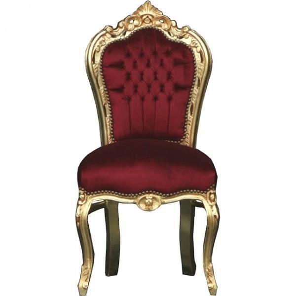 Dîner Casa Padrino Baroque Chaise Bordeaux Or Meubles Achat