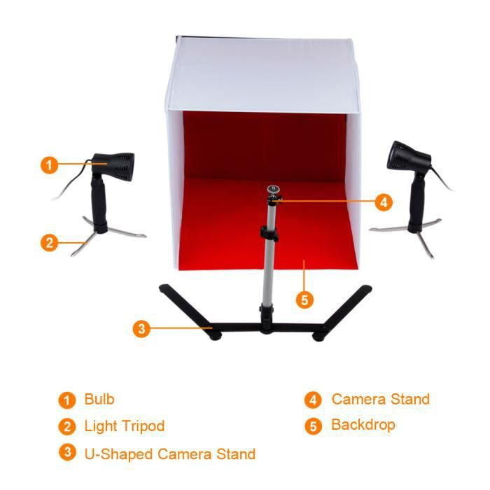kit mini studio photo achat vente pas cher. Black Bedroom Furniture Sets. Home Design Ideas
