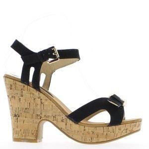 Sandales noires à talon de 10,5c…
