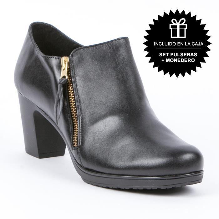Chaussure stlyle botte Femme Noir Dailet Star