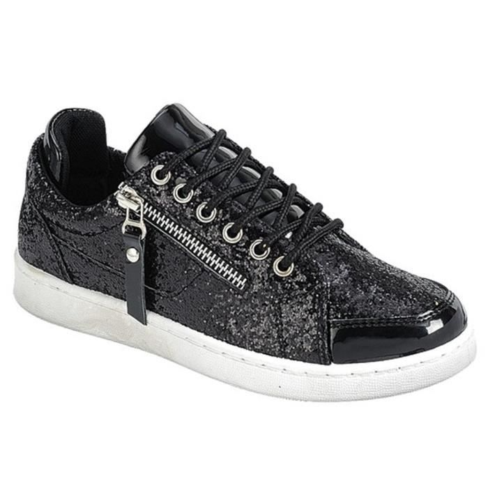 Lacer Plate-forme matelassée Casual Flat confortable Une Ribben Sneakers R111M Taille-41