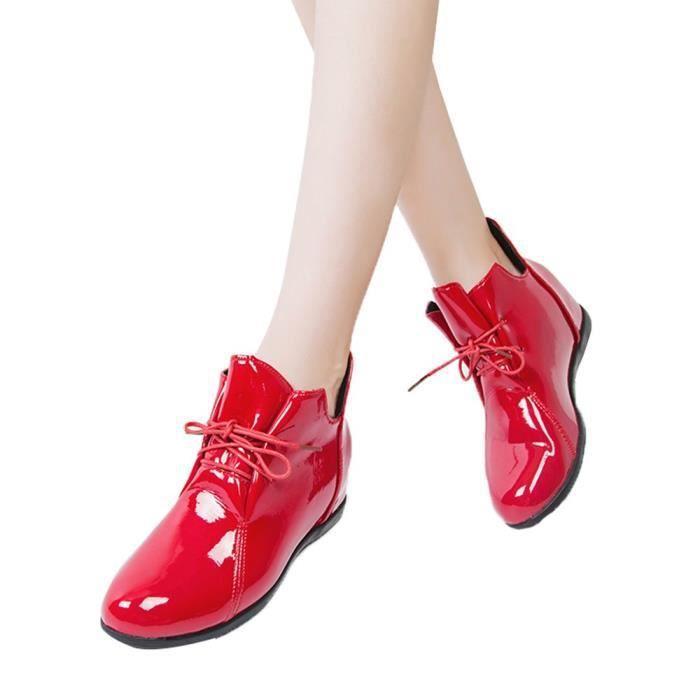 De Antidérapants Brevet Velvet Bottes En Chaussures Surélévation Cuir Plus Martin Femmes Des rwaqOr8xn