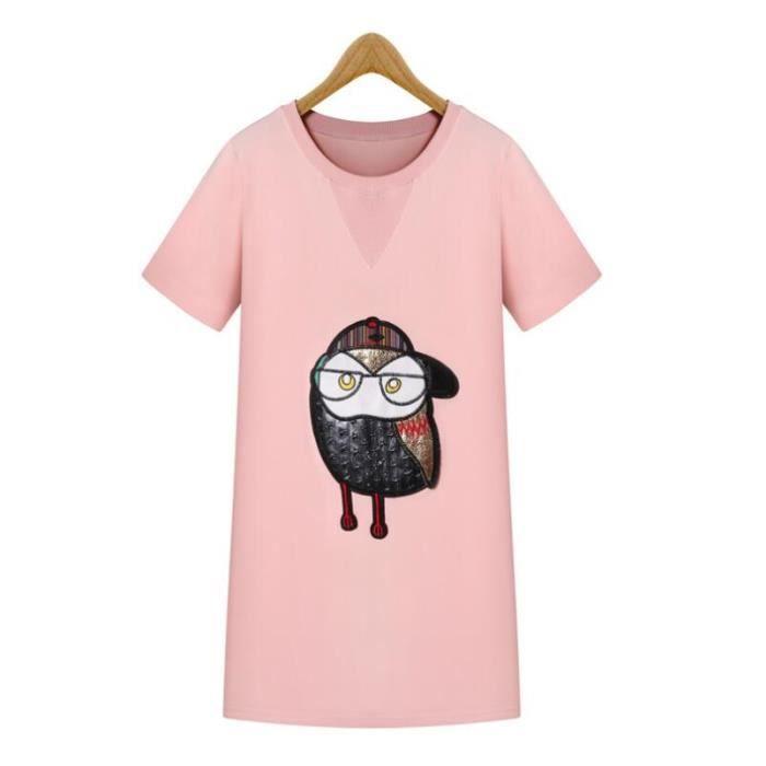 robe mode Owl était mince à manches courtes