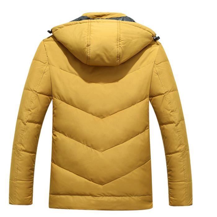 Vêtement gris De A Masculin Logo Petit Avec Hiver rouge Epaississant bleu Capuche Doudoune Homme Orange jaune kaki RwCz7z