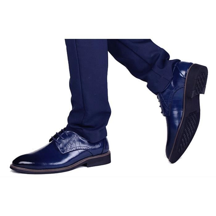 DADAWEN Chaussure Pointu Commercial Leather Classique Bout Homme IAwrqIxP